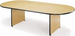 36'' D x 72'' W Racetrack Conference Table - Medium Oak [T3672RT-EOAK-FS-MFO]