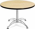 42'' Round Multi-Purpose Table - Oak [KLT42RD-OAK-MFO]
