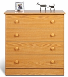 Edenvale 4 Drawer 31.75''H Chest with Matching Plastic Knobs - Oak [OBD-3031-4-FS-PP]