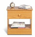 Edenvale 19.75''H Nightstand with Matching Plastic Knobs - Oak [OBD-2020-1-FS-PP]