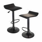 Obsidian Airlift Adjustable Swivel Stools-Set of 2 [20239-FS-WWT]