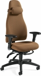 Obusforme High Back Multi Tilter Task Chair with Adjustable Arms and Caster Base - Grade 3 [4430-GR3-FS-GLO]