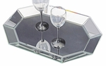 Octagonal Decorative Mirrored Tray [11047-FS-HEC]