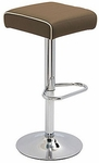 Octave Adjustable Bar Stool with a Square Upholstered Seat - Leather [OC9288-CH-S-LEA-FS-DV]