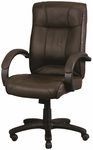 Odyssey High Back 26'' W x 27'' D x 44'' H Adjustable Height Executive Leather Chair - Brown [LE9406BRN-FS-EURO]