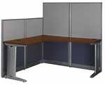 Office In An Hour™ L-Workstation with Panels [WC36494-03K-FS-BBF]