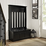 Ogden Entryway Hall Tree in Black [CF6001-BK-FS-CRO]