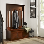 Ogden Entryway Hall Tree in Mahogany [CF6001-MA-FS-CRO]