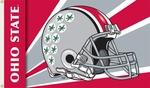 Ohio State Buckeyes 3' X 5' Flag with Grommets - Helmet Design [95355-FS-BSI]