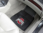 Ohio State University Heavy Duty 2-Piece Vinyl Car Mats 18'' x 27'' [7924-FS-FAN]
