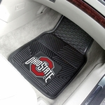 Ohio State University Vinyl Car Mat 2 Pc 18'' x 27'' [7924-FS-FAN]