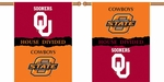 Oklahoma - Ok St. 2-Sided 28'' X 40'' Banner with Pole Sleeve House Divided [96947-FS-BSI]