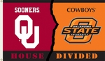 Oklahoma - Ok St. 3' X 5' Flag with Grommets - Rivalry House Divided [95947-FS-BSI]