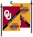 Oklahoma - Oklahoma State 2-Sided Garden Flag - Rivalry House Divided [83947-FS-BSI]