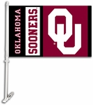 Oklahoma Sooners Car Flag with Wall Brackett [97019-FS-BSI]