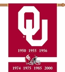 Oklahoma Sooners Champ Years 2-Sided 28'' X 40'' Banner with Pole Sleeve [96219-FS-BSI]