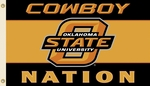 Oklahoma State 'Cowboy Nation' 3' X 5' Flag with Grommets [95147-FS-BSI]