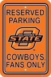 Oklahoma State Cowboys 12'' X 18'' Plastic Parking Sign [50252-FS-BSI]