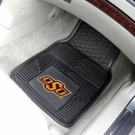 Oklahoma State University Vinyl Car Mat 2 Pc 18'' x 27'' [11822-FS-FAN]