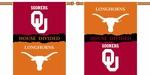 Oklahoma - Texas 2-Sided 28'' X 40'' Banner with Pole Sleeve House Divided [96934-FS-BSI]