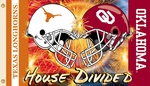 Oklahoma - Texas 3' X 5' Flag with Grommets - Helmet House Divided [95734-FS-BSI]