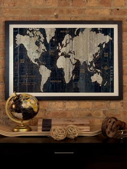 old world map blue by wild apple portfolio 32 w x 24 h artwork on fine art paper with black matte hardwood frame wac1993 1pfa 32x24 fm01 fs ican 9jpg