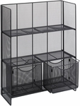 Onyx™ 27.5'' W x 11'' D x 34.25'' H Fold Up Shelving - Black [6240BL-FS-SAF]