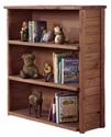 Rustic Style 43''W x 49''H Solid Pine Bookcase - Mahogany Stain