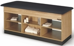 Open Cabinet Storage Table with Grommets on Top Rear and Back [HAU-A9066-FS-HAUS]
