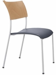 Open End Wood Back and Molded Seat Stack Chair [OE12100-FS-DV]