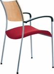 Open End Wood Back and Upholstered Seat Stack Chair [OE12110-FS-DV]