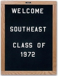 Open-Face Message Board with Wood Trim - 18''H x 12''W [DW-181-MSH]