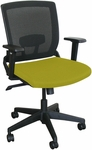 Fermata Operational Mesh Chair with Black Base - Lime Fabric [WMCOPFB-F6561-FS-MVL]