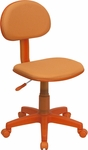 Orange Fabric Ergonomic Swivel Task Chair [BT-698-ORANGE-GG]