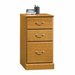 Orchard Hills 3 Drawer 15.5''W x 29''H Wooden Pedestal with Safety-Stop Drawers - Carolina Oak [401804-FS-SRTA]