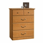 Orchard Hills 4 Drawer 31''W x 40''H Wooden Chest with Top Drawer Divider - Carolina Oak [401291-FS-SRTA]