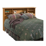 Orchard Hills 63''W x 41''H Full or Queen Size Wooden Bookcase Headboard - Carolina Oak [401294-FS-SRTA]