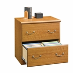 Orchard Hills 2 Drawer 30''H Wooden Lateral File Cabinet - Carolina Oak [401805-FS-SRTA]