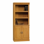 Orchard Hills 29''W x 71''H 3 Shelf Wooden Library with 2 Doors - Carolina Oak [402173-FS-SRTA]
