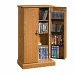 Orchard Hills 23''W x 44''H Wooden Locking Multimedia Storage Cabinet - Carolina Oak [401349-FS-SRTA]