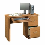 Orchard Hills Wooden 43''W Small Computer Desk with 2 File Drawers - Carolina Oak [401562-FS-SRTA]
