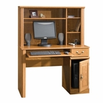 Orchard Hills Wooden 42''W Small Computer Desk and Hutch with 3 Adjustable Shelves - Carolina Oak [401353-FS-SRTA]