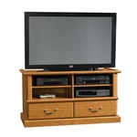 Orchard Hills Small 45.75''W x 25''H Wooden Entertainment Credenza with 2 Adjustable Shelves - Carolina Oak [401268-FS-SRTA]