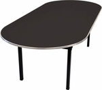 Original Series Race Track Banquet Table with Laminate Top - 72''D x 36''W x 30''H [DLORIG3672RACE-MFC]