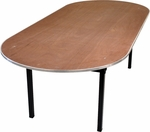 Original Series Race Track Banquet Table with Plywood Top [DPORIG3672RACE-MFC]
