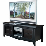 OSP Designs 60'' Wood TV Stand with Storage Space - Black [TV0860FBK-FS-OS]