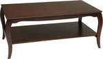 OSP Designs Brighton Coffee Table with Shelf - Cherry [BN12CHY-FS-OS]