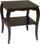 OSP Designs Brighton End Table with Shelf - Mahogany [BN09MAH-FS-OS]
