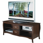 OSP Designs Brighton Traditional Wood 60'' TV Stand with Storage - Walnut [TV0660FWA-FS-OS]