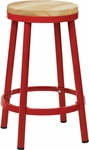 OSP Designs Bristow 26'' Metal Backless Barstool with Metal Legs - Red [BRW3226-9-FS-OS]